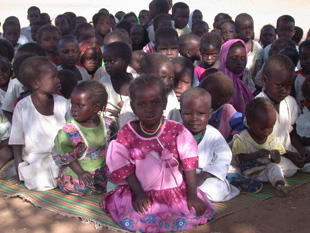 darfur children sitting together